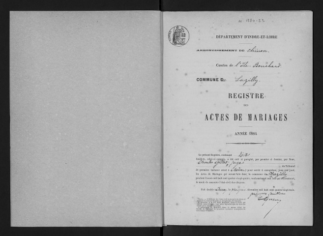 Mariages, 1884-1905