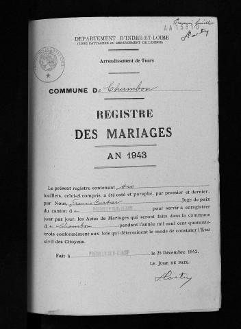 Mariages, 1943