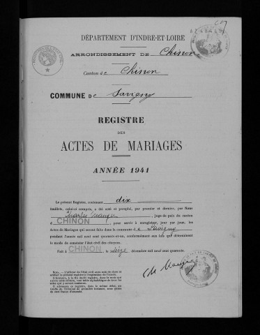 Mariages 1941