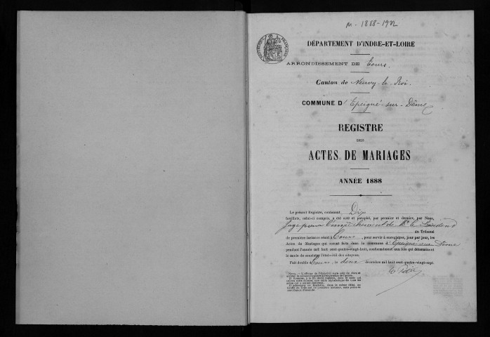 Mariages, 1888-1905