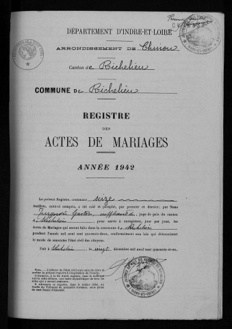 Mariages, 1942