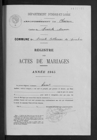Mariages, 1945