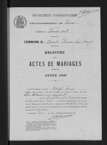 Mariages, 1906-1913