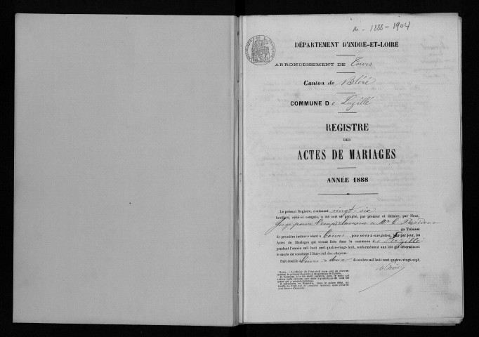 Mariages, 1888-1904