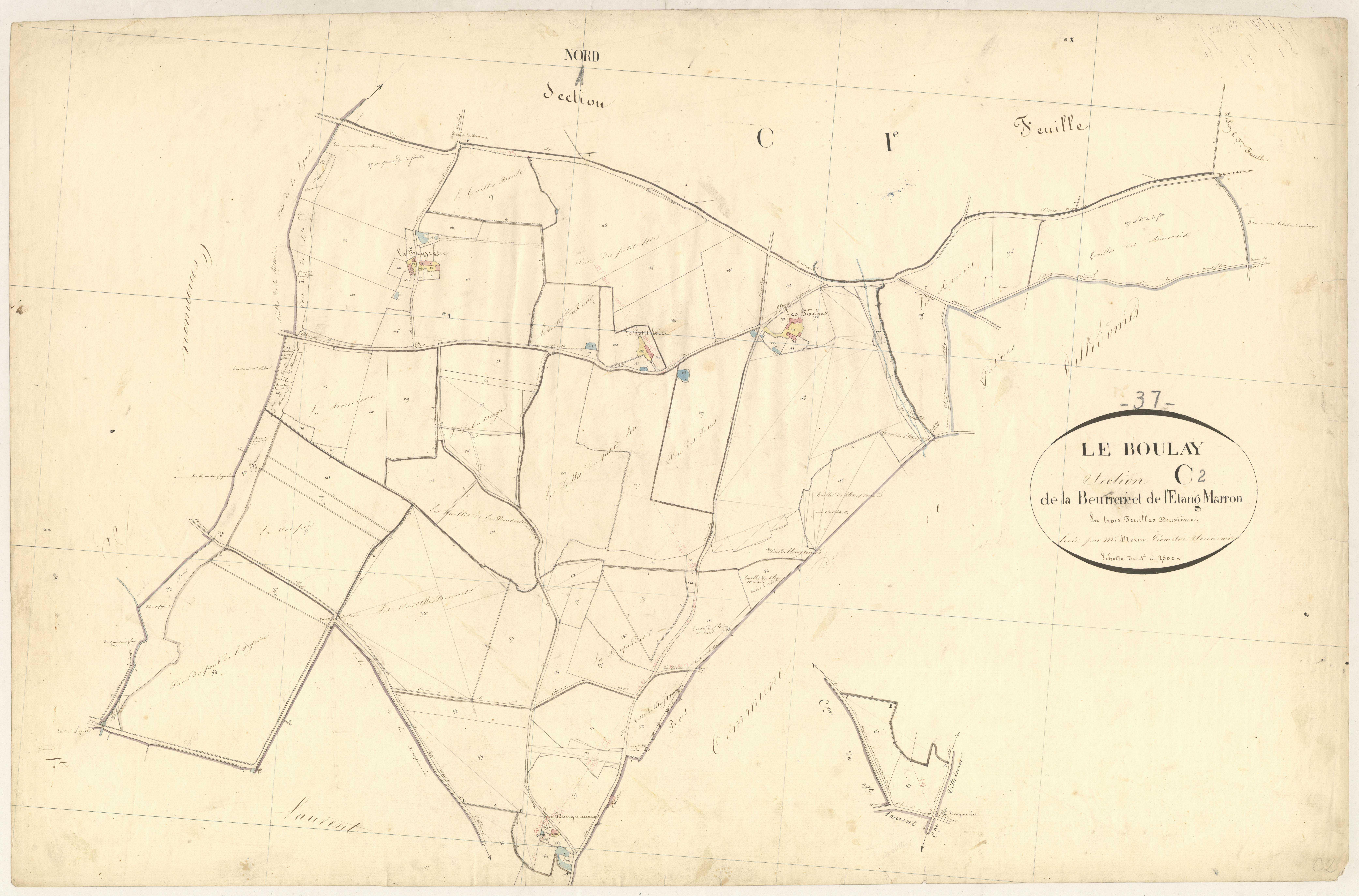 Section C2 de la Beurrerie et de l'Etang Marron