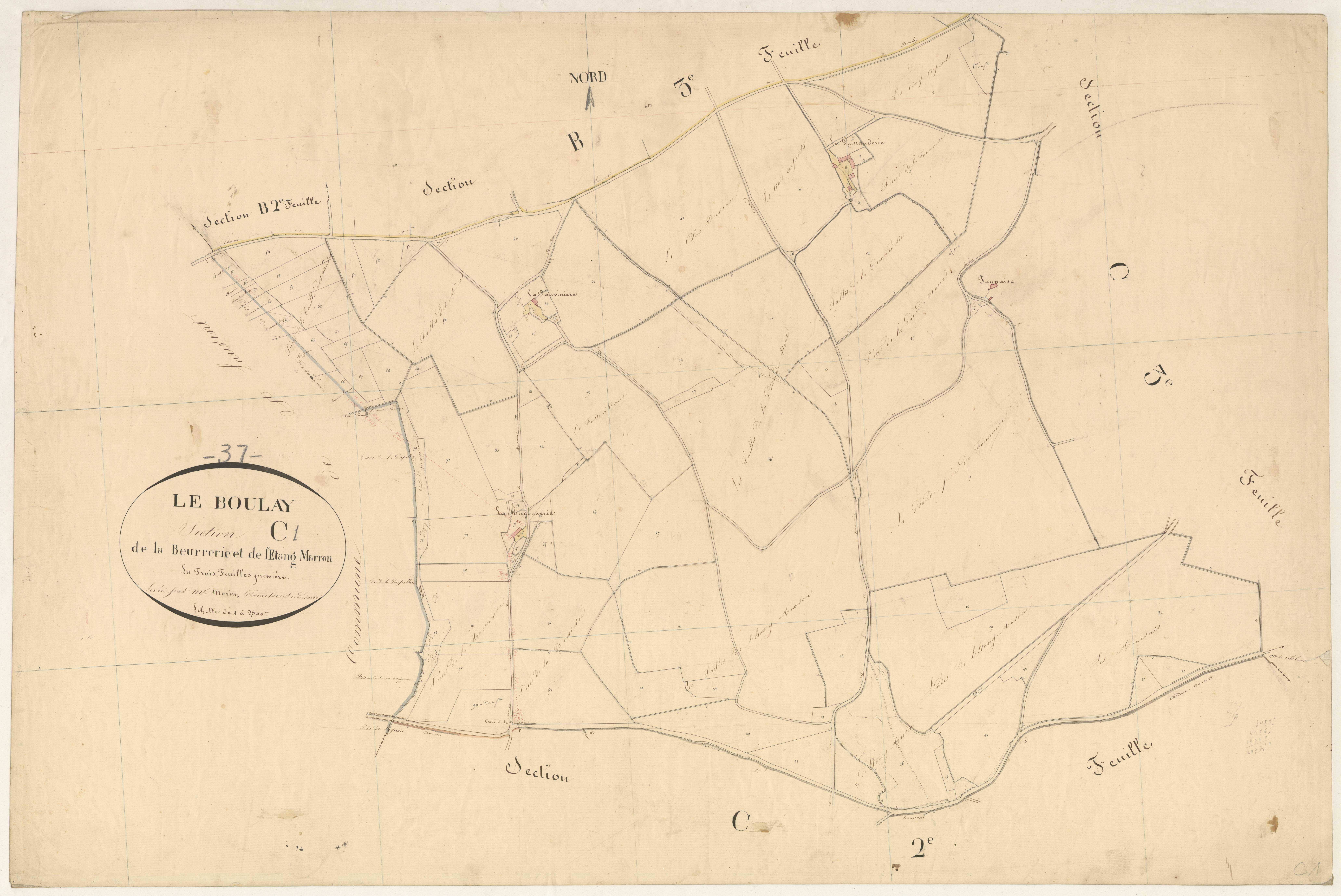 Section C1 de la Beurrerie et de l'Etang Marron