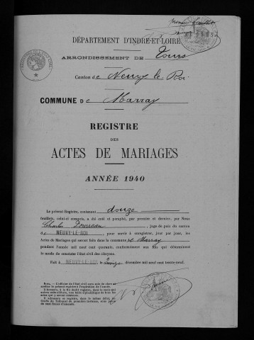 Mariages, 1940